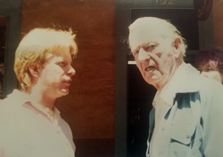 Scott MacDonald with Erskine Caldwell, circa 1981